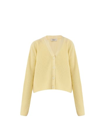 TOPTOP STUDIO Cardigan Kurze Shirtjacke in gelb