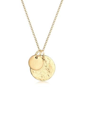 Elli Halskette 925 Sterling Silber Geo, Organic in Gold