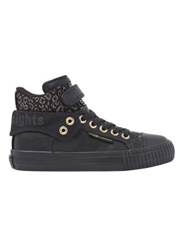 British Knights Sneaker Roco in schwarz/goldfarben leopard/schwarz