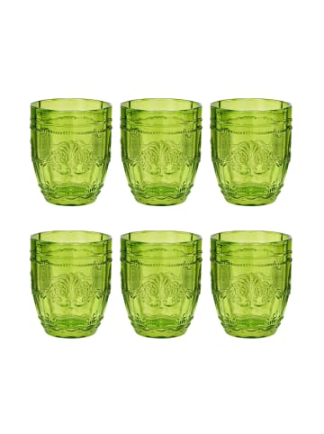 Butlers 6x Trinkglas 250 ml VICTORIAN in Grün