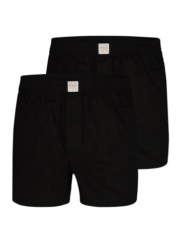 MG-1 Web-Boxershorts 2-Pack Single Colour in Schwarz