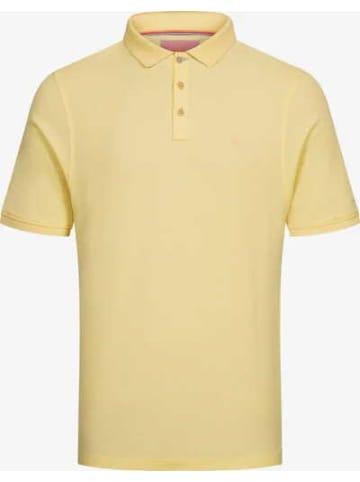 COLOURS & SONS Poloshirt kurzarm in gelb