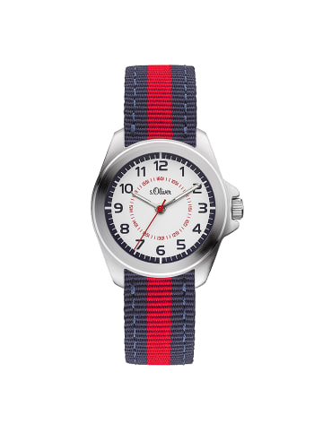 S.Oliver Time Armbanduhr in blau/rot