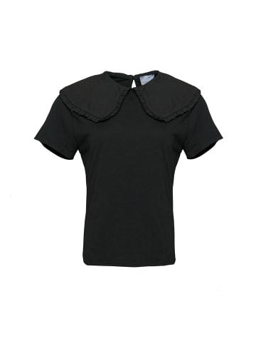 Noella Kurzarm T-shirt Dex in schwarz