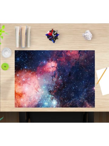 """Cover-your-desk.de  Schreibtischunterlage """"Entfernte Galaxie"""" in Blau (L)60 x (B)40"""