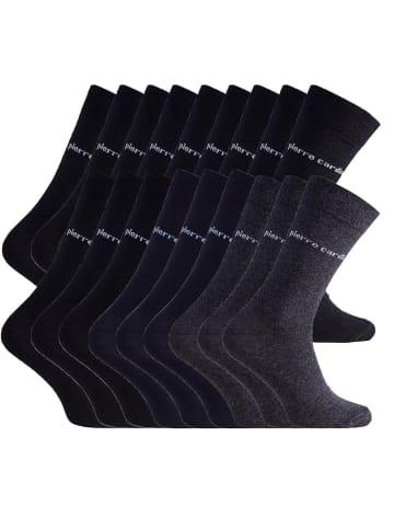 Pierre Cardin Socken 12 Paar in Schwarz, 3 Paar in Navy, 3 Paar in Anthrazit