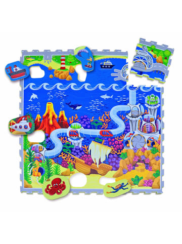 """Hakuna Matte Puzzlematte """"Ozeanzauber"""" in Bunt - 1,2m x 1,2m"""