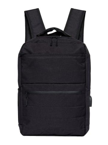Pyato Pyato PYATO Rucksack in schlichtem Design in schwarz