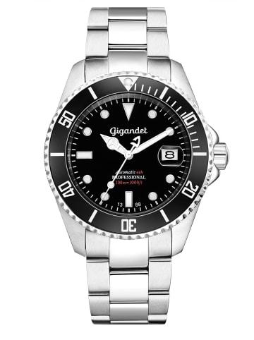 """Gigandet Automatikuhr """"SEA GROUND""""  in Silber/Schwarz"""