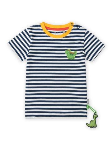 "Sigikid T-Shirt ""Dino"" in Blau/Weiß"