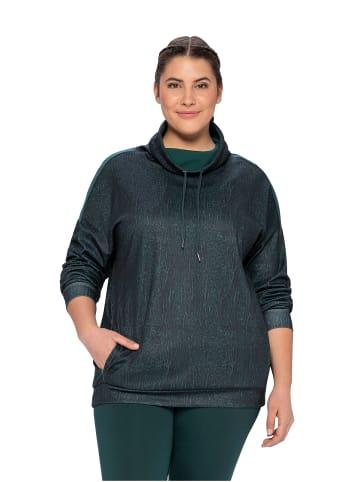 Sheego Funktionssweatshirt in tiefgrün gemustert