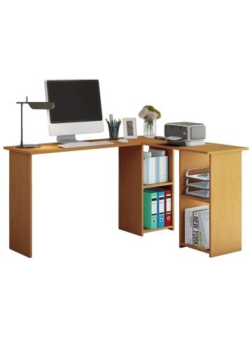 VCM  Holz Eckschreibtisch Computertisch Lusias in Buche