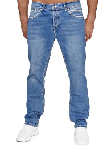 AMICA JEANS Denim Jeans Dicke Naht Hose Big Seam in Blau