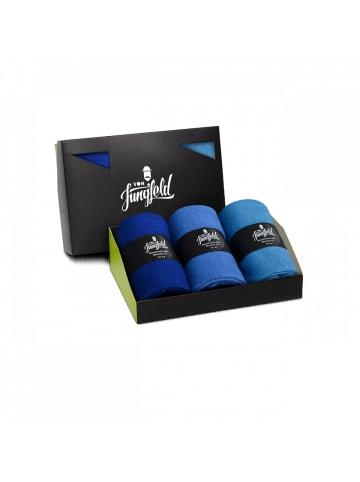 Von Jungfeld Socken 3er Pack in Blau
