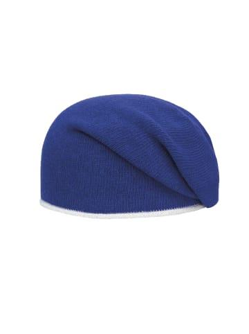 Passigatti Beanie Mütze mit Lurexdetails in snorkel blue