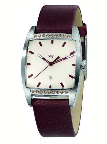 """Xen Uhr """"XQ0234"""" in braun und weiß"""