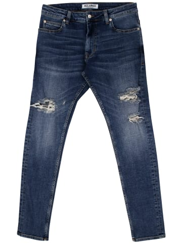 Just Junkies lange Jeans Slim Fit Jeans Max Of 163 Holes in blue