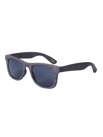 Six Kinder rechteckige Sonnenbrille mit Holz-Optik in BLACK