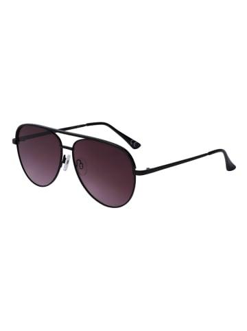 Six Sonnenbrille im Aviator-Design in schwarz