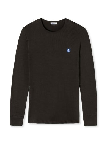 Schiesser Revival Sweatshirt in Dunkelbraun