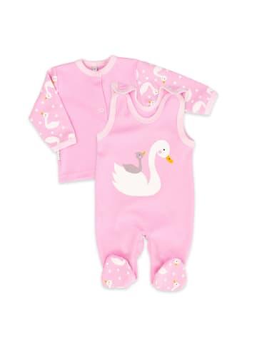 Baby Sweets 2tlg Set Strampler + Shirt Lovely Swan in rosa