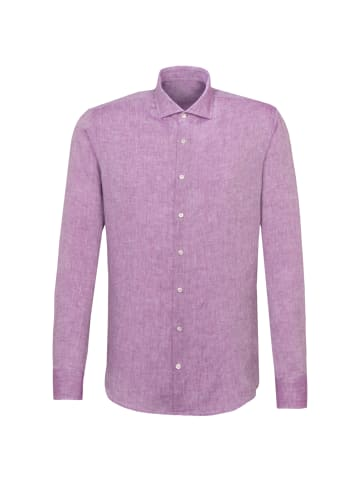 JACQUES BRITT Smart Casual Hemd Perfect Fit in Lila