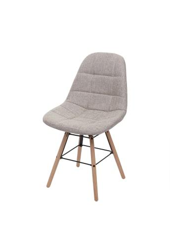 MCW Retro Esszimmerstuhl A60 II, Stoff/Textil creme-grau
