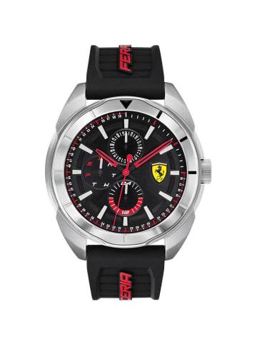 Scuderia Ferrari Multi Zifferblatt Uhr 'Forza' in Schwarz/Schwarz