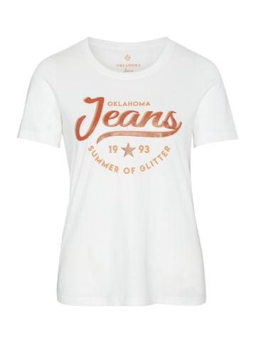 Oklahoma Jeans T-Shirt in Snow White