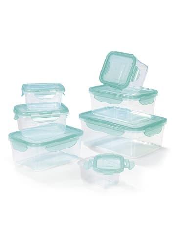 HOBERG 14tlg. Set: Frischhaltedosen in Aquamarin