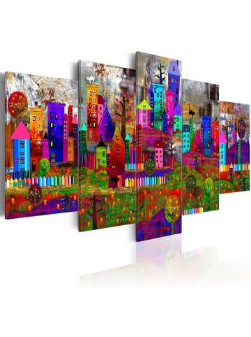 Artgeist Wandbild The City of Expression in mehrfarbig