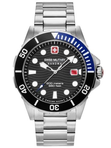 Swiss Military Hanowa Herren-Taucheruhr Offshore Diver Edelstahl Schwarz