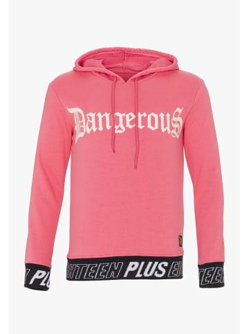 PLUS EIGHTEEN Kapuzenpullover in Pink