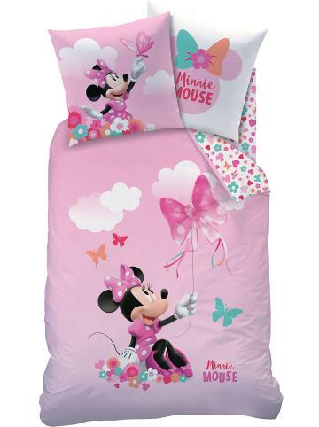 """Disney Minnie Mouse Mädchen Bettwäsche-Set """"Disney's Minnie Mouse"""" in Rosa"""