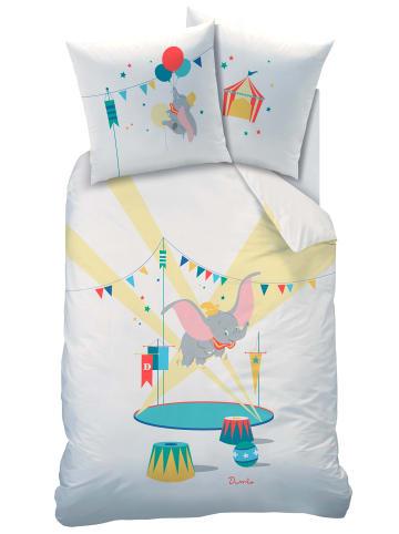 "Disney Dumbo Mädchen Bettwäsche-Set ""Disney's Dumbo"" in Weiß / Bunt"