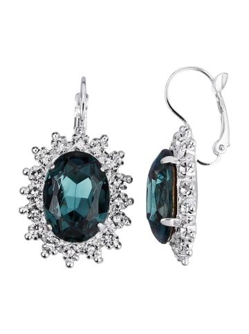 Golden Style Ohrringe mit Kristallen in Blau