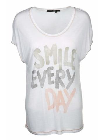 Marc Aurel Rundhals T-Shirt in weiß