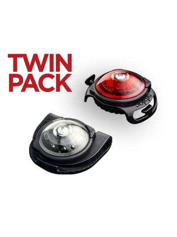 Orbiloc TWIN Doppelpack Doppelpack (weiß + rot)