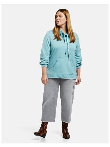 SAMOON Hose Jeans verkürzt in Grau