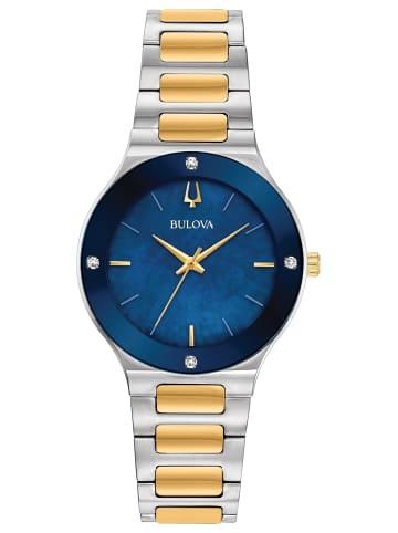Bulova Analog Uhr 'Modern' in Mehrfarbig/Blau