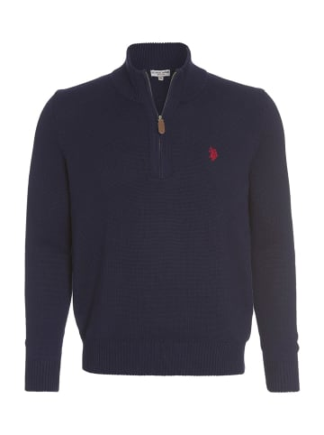 U.S. Polo Assn. Troyer Zip Pullover in NAVY