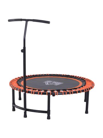 HOMCOM Fitness-Trampolin in Schwarz/Orange