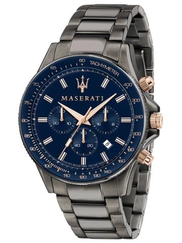 Maserati Herrenuhr Chronograph Sfida Blau / Anthrazit