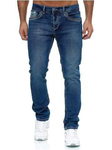 AMICA JEANS Jeans Big Seam Denim Trend Hose Dicke Naht in Blau