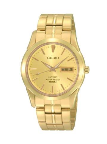 Seiko Analog Uhr 'SGG71' in Gold/Gold