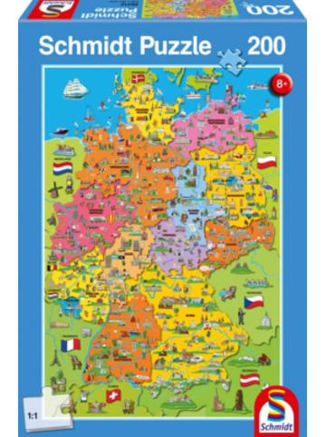 Schmidt Spiele Puzzle, 200 Teile, 36x24 cm, Deutschlandkarte mit Bildern
