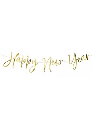 "Party Deko Girlande ""Happy New Year"" in Gold"