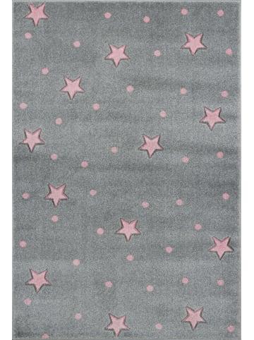 Livone Teppich HEAVEN silbergrau/rosa