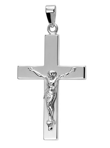 JEVELION Anhänger Sterlingsilber Kruzifix in silber