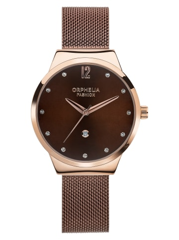 Orphelia Analog Uhr 'Optima' In Braun/Rosagold